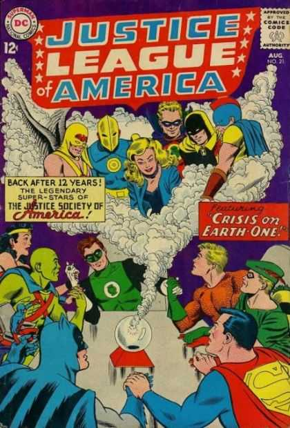 Justice League of America 21 - Crisis On Earth-one - Super Stars - Heroes - Crystal Ball - Seance