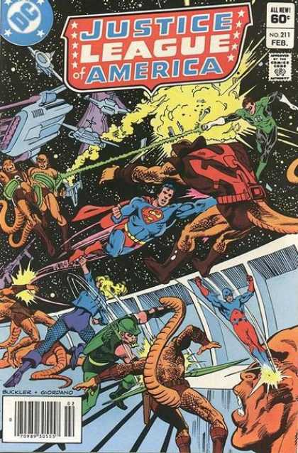 Justice League of America 211 - Superman - Outer Space - Space Ships - Green Lantern - Fights - Dick Giordano, Richard Buckler