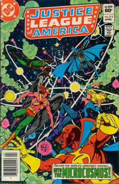 Justice League of America 213 - Dc - Approved By The Comics Code Authority - April - Microcosmos - All New - George Perez
