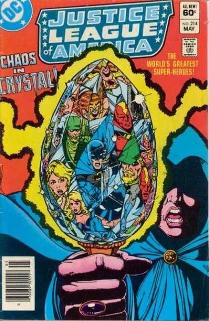Justice League of America 214 - Dc - Chaos In Crystal - Batman - Green Arrow - Hawkman - George Perez