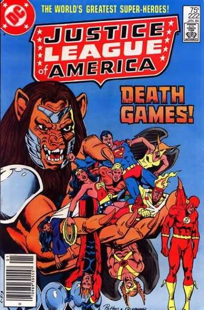Justice League of America 222 - Superman - Flash - Wonder Woman - Aquaman - Death Games - Dick Giordano