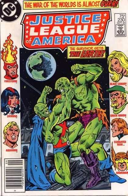 Justice League of America 230 - The War Of The Worlds Is Almost Over - The Survivor Gets The Earth - Firestorm - Zatanna - Green Fighters - Dick Giordano