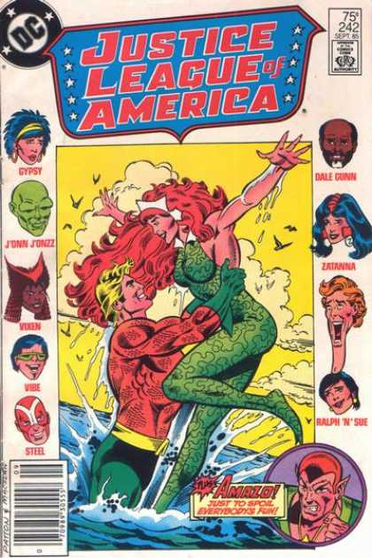 Justice League of America 242 - Dc - Approved By The Comics Code Authority - Gypsy - Ralpn N Sue - Steel
