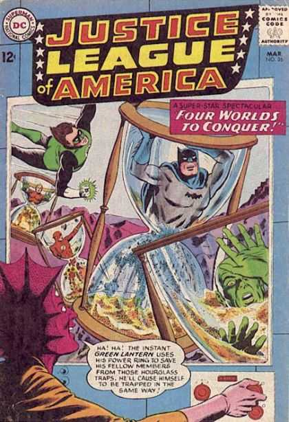 Justice League of America 26 - Dc - Batman - Clock - Superheroes - Four Worlds To Conquer