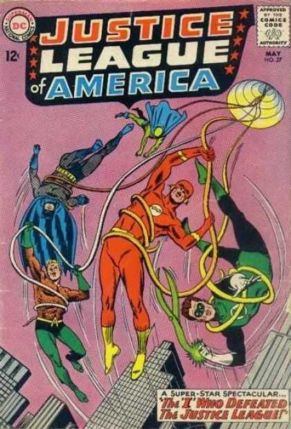 Justice League of America 27 - Dc Comics - Comics Code Authority - May - Superheroes - Buildings