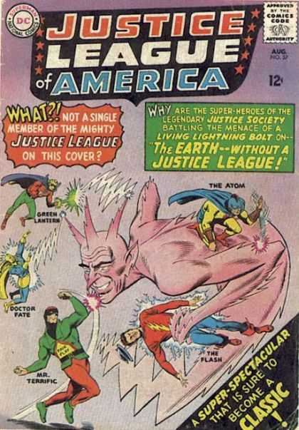 Justice League of America 37 - Approved By The Comics Code Authority - Superman - National Comics - The Atom - Doctor Fate
