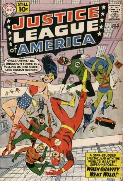 Justice League of America 5 - Dc - Still 10c - When Gravity Went Wild - July