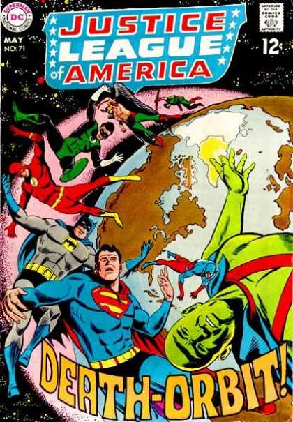 Justice League of America 71 - Flash - Planet - Angel - Approved By The Comics Code - Superman National Comics