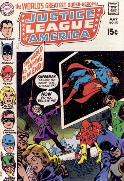 Justice League of America 80 - Worlds Greates Super-heroes - Superman - Batman - Green Lantern - Black Canary - Murphy Anderson