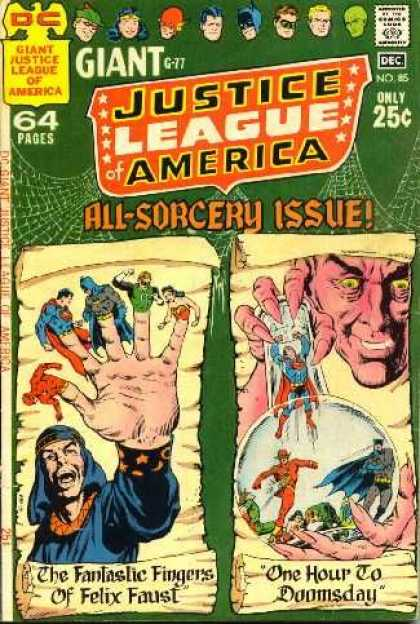 Justice League of America 85 - 64 Pages - Hand - Finger Puppets - Superheroes - Superman - Curt Swan