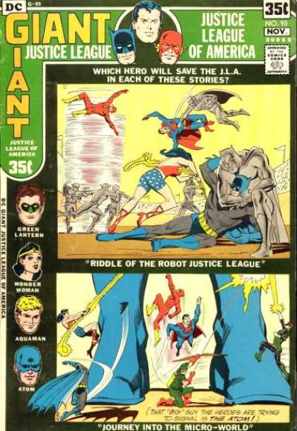 Justice League of America 93 - Riddle Of The Robot Justice League - Wonder Woman - Green Lantern - Aquaman - Atom - Dick Giordano