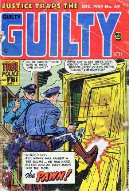 Justice Traps the Guilty 69 - December 1954 - True Police And Fbi - The Pawn - Guns - Issue 69