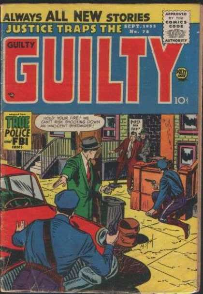 Justice Traps the Guilty 78 - Always All New Stories - Sept 1955 No 73 - Policemen - Innocent Bystander - True Police And Fbi Stories