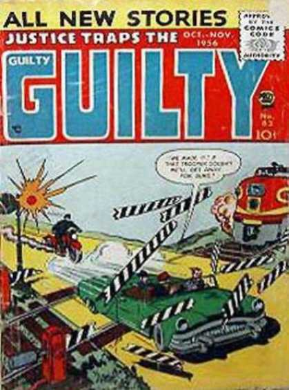 Justice Traps the Guilty 83 - Train - Motorcycle - Police - Convertable Automobile - All New Stories