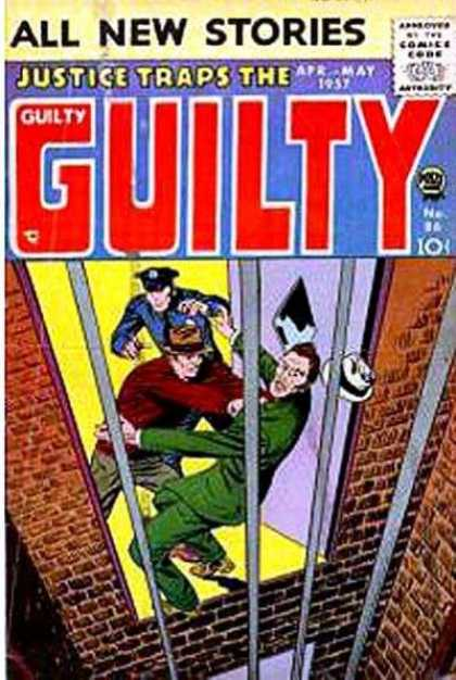 Justice Traps the Guilty 86 - All New Stories - April-may 1957 - Policeman - Prison - Cage