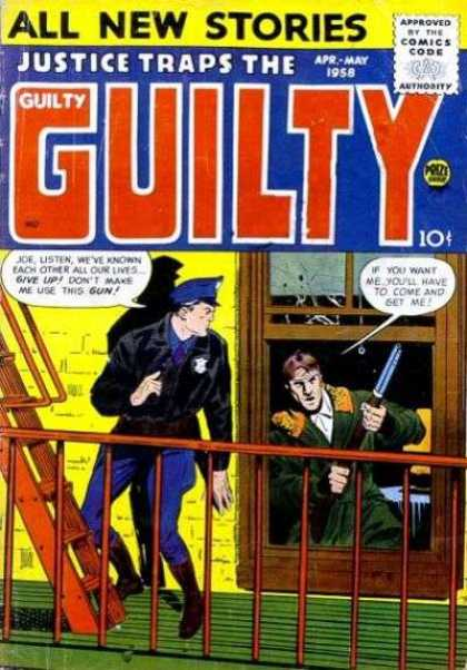 Justice Traps the Guilty 92 - Speech Bubble - Weapon - Window - Police - April