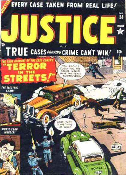 Justice 28 - Police Car - Parking Meter - The Electric Chair - Police Officers - Dead Body