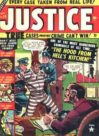 Justice 29 - Hood From Hell - True Stories - Two Police Taking Away A Criminal - Man Pounding On The Desk - Most Dangerous Criminal