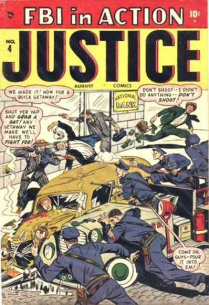 Justice 4 - Fbi In Action - Fighting - Shooting - Gunns - Policemen - Alex Ross