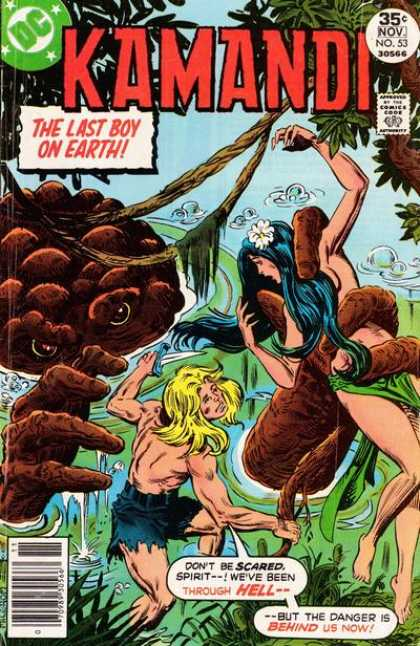 Kamandi 53 - Last Boy On Earth - Swamp - Vines - Monster - Knife