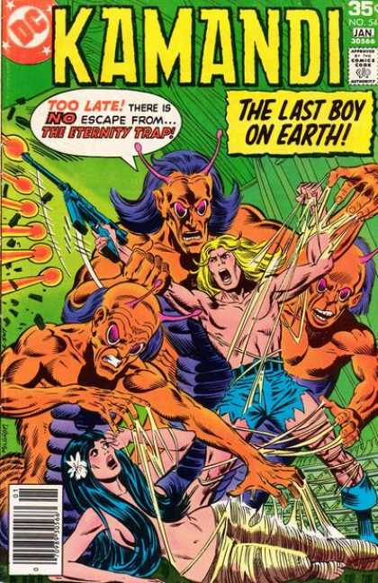 Kamandi 54 - The Last Boy On Earth - Monsters - Woman - Stuck - Web