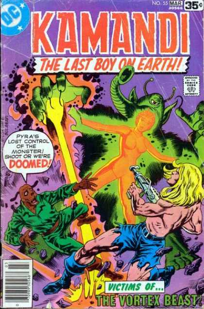 Kamandi 55 - The Last Boy On Earth - Pyra - Monster - Dog Man - Elephant Trunk