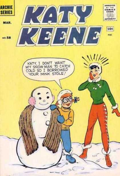Katy Keene 58 - Snowman - Scarf - Ear Muff - Snow Boots - Sweater
