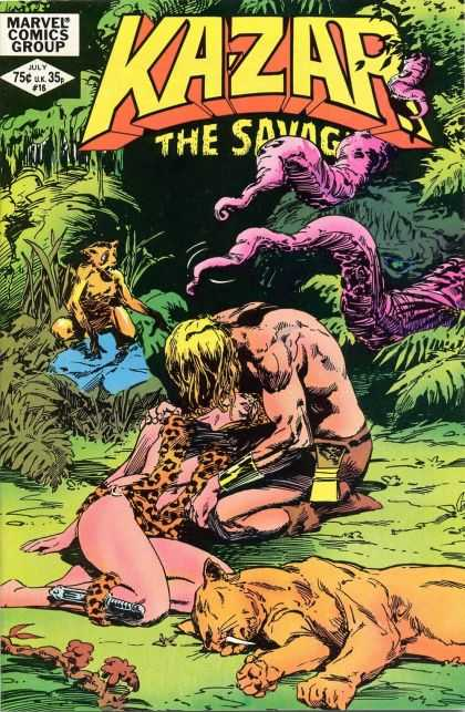 Kazar 16 - The Savage - Wild - Marvel - Cheetah - Monkey