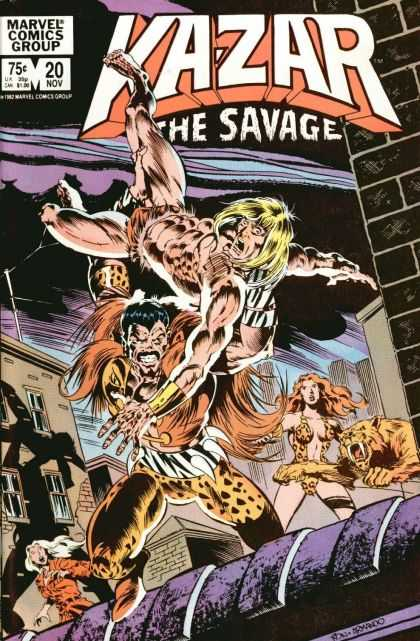 Kazar 20 - Sabre Tooth Cat - Savage - Marvel Comic - Super Strength - Modern Caveman