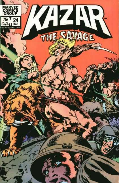 Kazar 24 - The Savage - Mar 24 - Woman - Man - Beasts