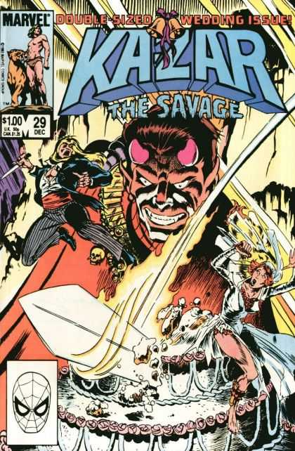 Kazar 29 - The Savage - Marvel - Double Sized - Wedding Issue - Sword