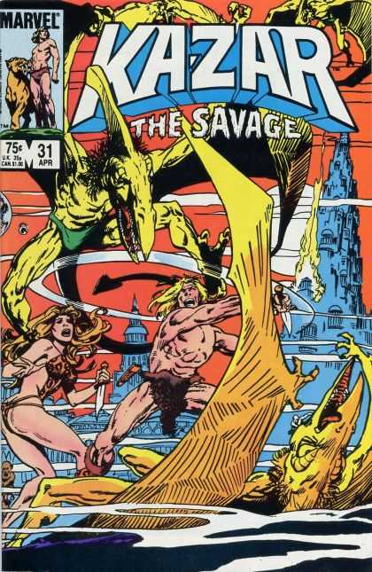 Kazar 31 - Marvel - Birds - Man - Woman - The Savage
