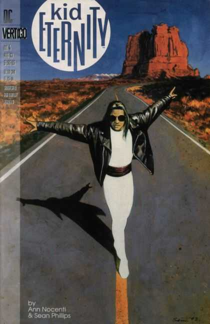 Kid Eternity 4 - Ann Nocenti - Sean Phillips - Desert - Road - Leather Jacket