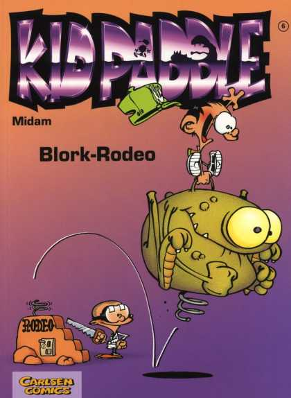Kid Paddle 5 - Midam - Blork-rodeo - Carlsen Comics - Hacksaw - Monster