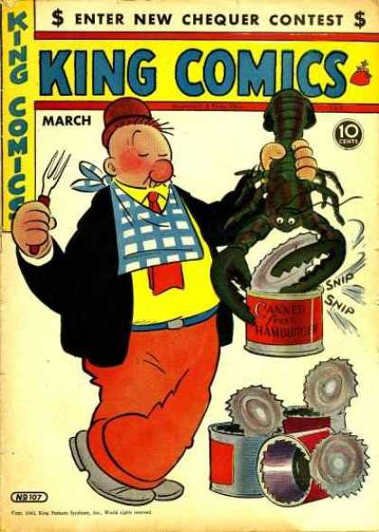King Comics 107 - King Comics - Lobster - Tin Cans - Canned Fresh Hamburger - Wimpy