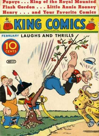King Comics 11 - Popey - King Of The Royal Mounted - Flash Gordon - Little Annie Rooney - Henry