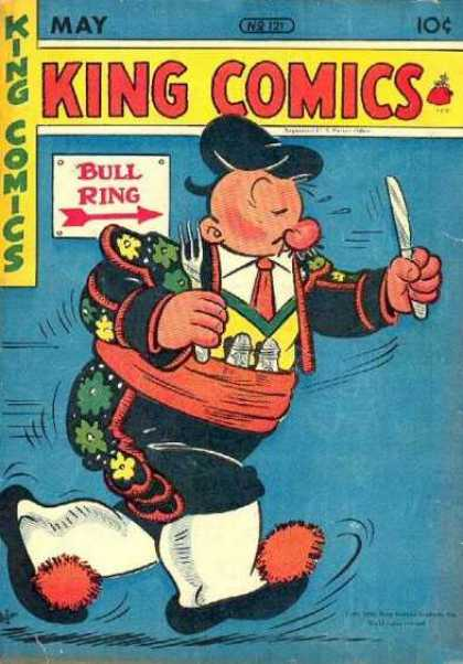 King Comics 121 - King Comics - May - Bull Ring - One Knife - One Fork