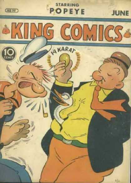 King Comics 50 - King Comics - Popeye - June Edition - 10 Cents Only - Comic