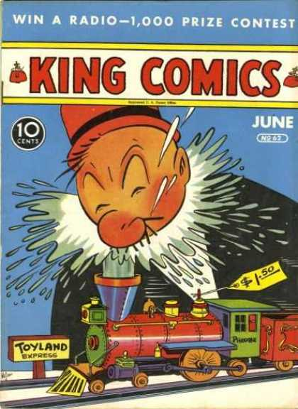 King Comics 62 - Train - Red Hat - Prize Contest - Red Nose - Splash