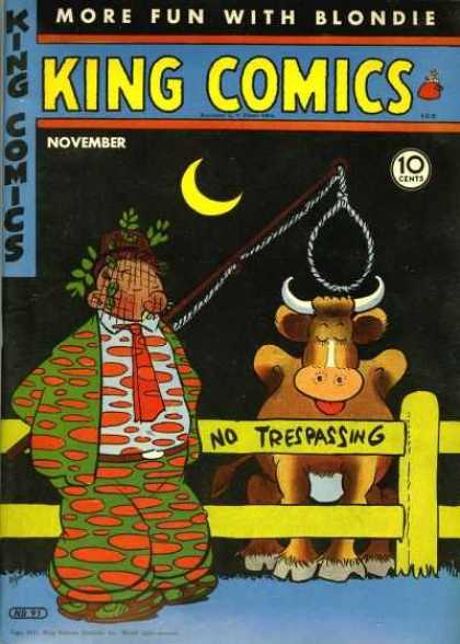 King Comics 91 - No Tresspassing - Night - Cow - Fence - November