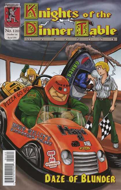 Knights of the Dinner Table 120 - Daze Of Blunder - Racing - Bumper Cars - Car Crash - Checkered Flag