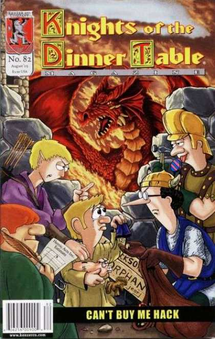 Knights of the Dinner Table 82 - Red Dragon - Cant Buy Me Hack - Flames - Elf - Arrows
