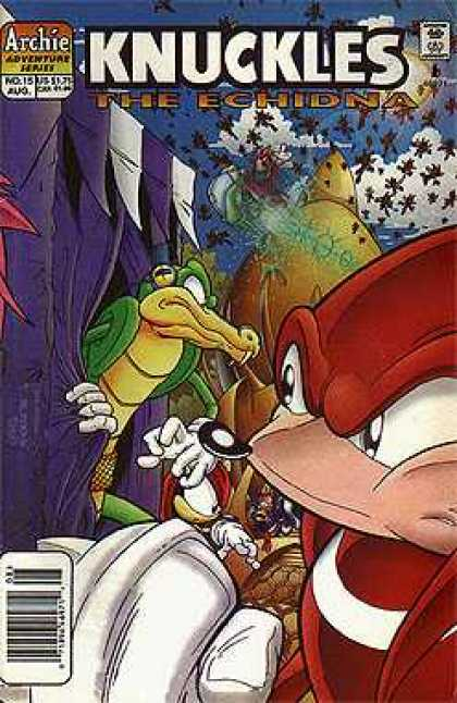 Knuckles 15 - The Echindna - Archie Adventure Series - Crocodile - Fair - Bees
