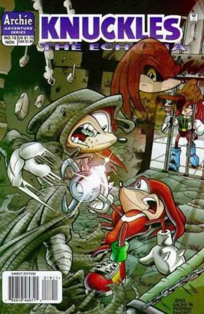 Knuckles 18 - Jail - Creatures - Hat - Rocks - Chain