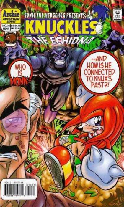 Knuckles 30 - Sonic The Hedgehog - The Echidna - Monk - Knux - Archie Adventure Series