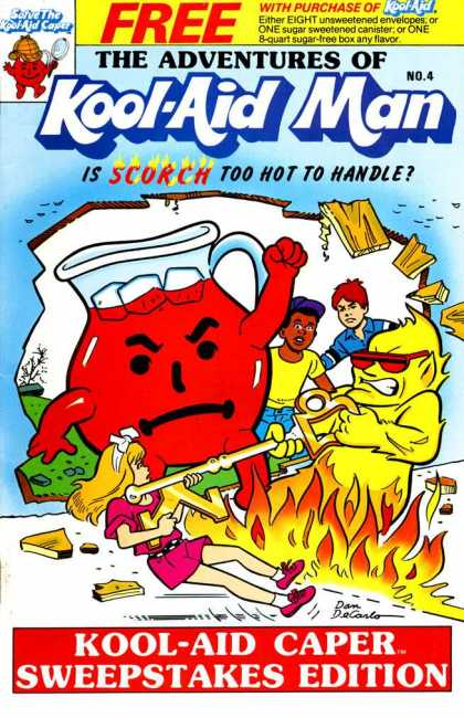 Kool-Aid Man 4 - Ice Cubes - Fire - Fighting - Anger - Key