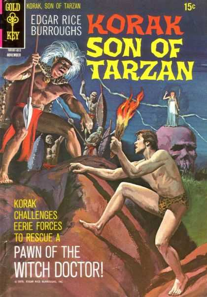 Korak 38 - Son Of Tarzan - Edgar Rice Burroughs - Korak Challenges Eerie Forces - Pawn Of The Witch Doctor - Gold Key