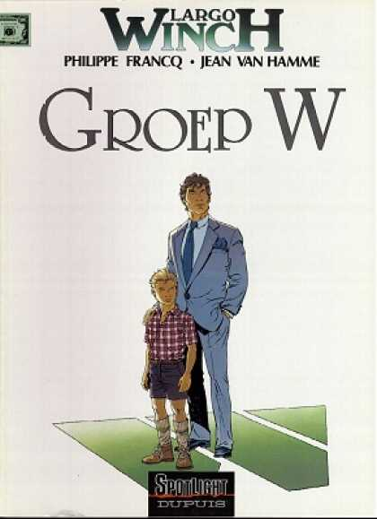 Largo Winch 2 - Man Protects Boy - Father And Son - Man In Blue Suit - Boy In Plaid Shirt - Family Portrait