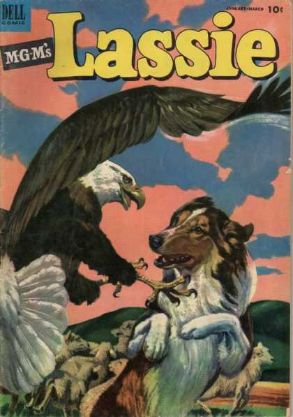 Lassie 10 - Mgm - Eagle - Collie - Clouds - Fight
