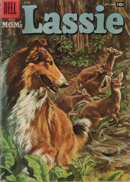 Lassie 36 - Dell - Dog - Deer - Mgm - Animals